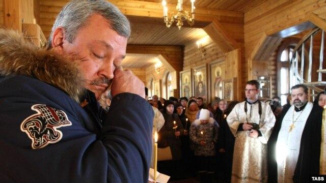Церемония прощания с погибшими, Воркута, 4 марта