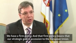 Serbian PM Vucic: 'Our Path Is The European Path'