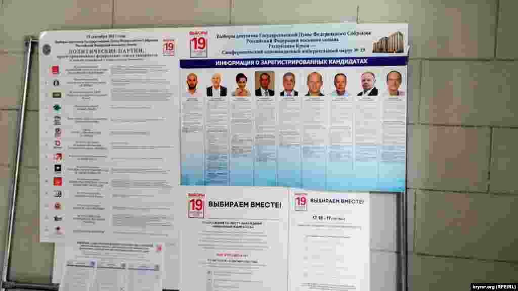 Сімферопольський одномандатний виборчий округ №19 розташований у приміщенні Центру естрадного мистецтва на вулиці Пушкіна
