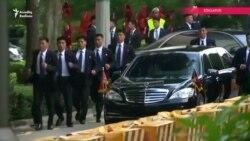 Şimali Koreya lideri Kim Jong Un Sinqapurda belə qarşılandı