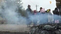 Мешканці села Саливонки палять шини на знак незгоди з результатами виборів