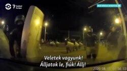 Így vertek szét a belarusz rendőrök egy útjukba kerülő autót