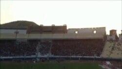 Təbrizdə futbol oyununda İran hökumətini tənqid edən şüarlar səslənib