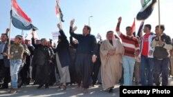 متظاهرون في الأنبار