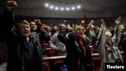 Ілюстрацыйнае фота. Абвяшчэньне «незалежнасьці ДНР», 7 красавіка 2014 году