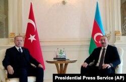 Встреча Реджепа Эрдогана и Ильхама Алиева в Баку, 25 февраля 2020 года