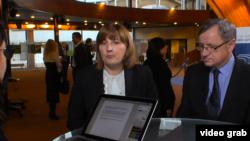 Liliana Palihovici, șefa delegației APCE la Strasbourg cu Egjdius Vareikis