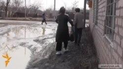 Ջրագծերը փոխվելուց հետո Գյումրու փողոցներն ու բնակիչները հայտնվել են ցեխի «գերության» մեջ