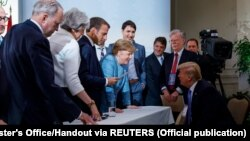 Лидерите на Г7 во Квебек, Канада.
