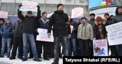 Протесты дальнобойщиков в Новосибирске