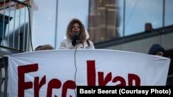 Podrška protestima Iranaca, Štoklolm, januar 2017.