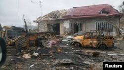 Nagorno Karabakh -- Aftermath of the fighting around Shushi