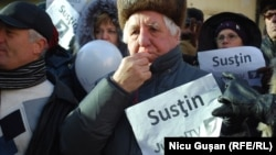 Demonstrație în sprijinul Jurnal TV la Chișinău, 15 ianuarie 2017