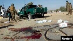Pamje nga shpërthimi i bombës, sot në Afganistan.