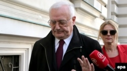 Josip Perkovic avoided reporters' questions as he departed from the courthouse in Zagreb after his extradition ruling on January 8.