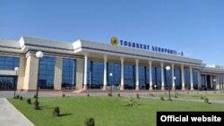 Международный аэропорт в Ташкенте.