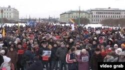 Марш памяти Немцова в Санкт-Петербурге
