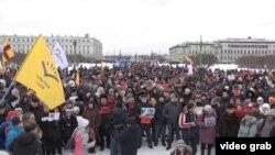 La marșul în memoria liderului asasinat al opoziției ruse, Boris Nemțov