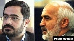 احمد توکلی، نماینده مجلس (راست) و سعید مرتضوی، دادستان سابق تهران.