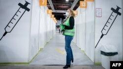 Գերմանիա - Կորոնավիրուսի դեմ պատվաստման կենտրոն Բեռլինում, հունվար, 2021թ․