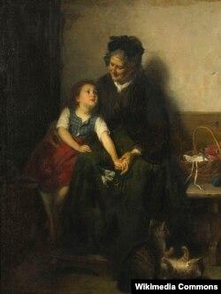 Рудольф Эп, «У бабулі і яе катоў» (1874)