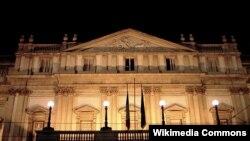 Здание театра Ла Скала в Милане.