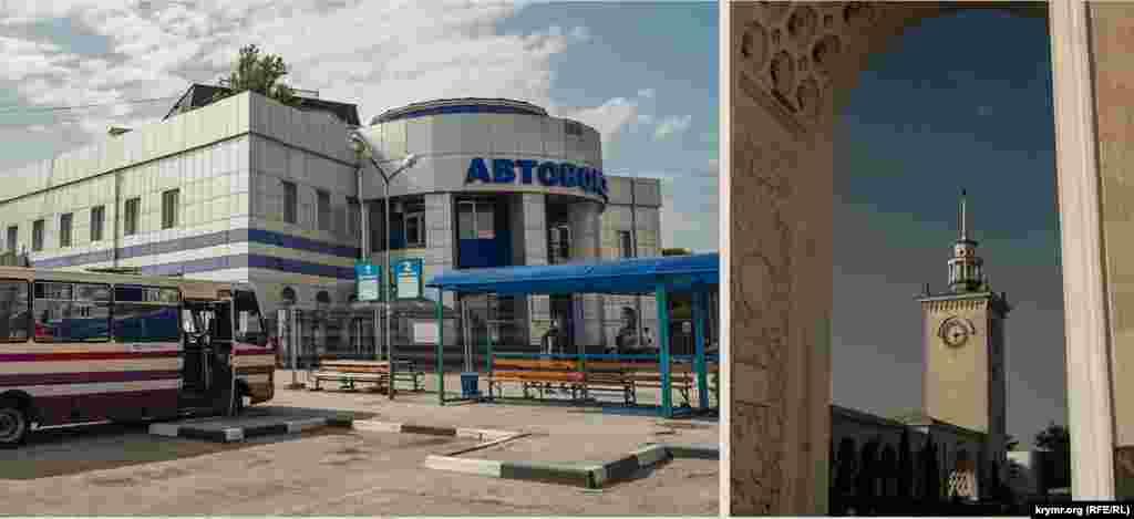 На автовокзалі оновили фасад, а ще з минулого року оточили його територію «зоною безпеки».Годинник на вежі залізничного вокзалу, як і раніше, справно працює
