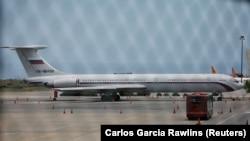 Il-62 təyyarəsi Karakas hava limanında 2019-cu ilin sentyabrı