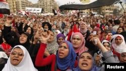 Antigovernment protesters in Tahrir Square in Cairo in late November