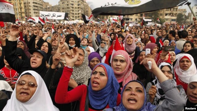 Antigovernment protesters in Tahrir Square in Cairo in late November