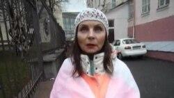 Менская актывістка Натальля Гарачка прыехала падтрымаць Васіля Парфянкова