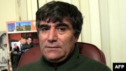 Turkish-Armenian journalist Hrant Dink in his office in Istanbul in 2006