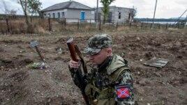Сепаратист в селе Нижняя Крынка