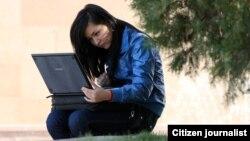 Алматылық студент қыз. Көрнекі сурет