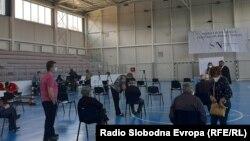 Вакцинација против ковид-19 во Регионалниот вакцинален пункт во Битола