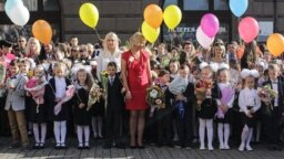 Первый звонок в белорусском гимназии, Минск, 1 сентября 2017