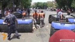 Ոստիկանները հեռացրեցին ցուցարարներին, Բաղրամյանում երթևեկությունը վերականգնվեց