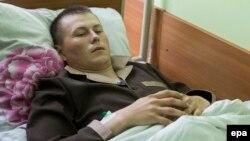 Ուկրաինա - Ձերբակալված երկու ռուս զինվորներից մեկը՝ Ալեքսանդր Ալեքսանդրովը Կիևի հիվանդանոցում, 19-ը մայիսի, 2015թ․
