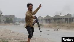 Një mbështetës i qeverisë së Tripolit.