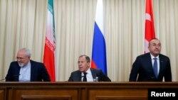 Չնայած դեսպանի սպանությանը, ՌԴ-ի, Թուրքիայի և Իրանի ԱԳ նախարարները Մոսկվայում հանդես եկան համատեղ հայտարարությամբ