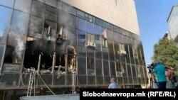 Пожар во Зградата каде се сместени Инспекторатот за животна средина и СЕП