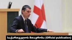 Վրաստանի այժմ նախկին վարչապետ Գիորգի Գախարիան խորհրդարանում, դեկտեմբեր, 2020թ․