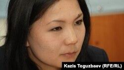 Инга Иманбай, представитель оппозиционной газеты «Саясат алаңы».