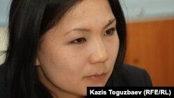 «Саясат алаңы» газетінің өкілі Инга Иманбай. Алматы, 24 сәуір 2014 жыл.