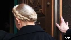 Former Prime Minister Yulia Tymoshenko entering the state prosecutor's office in Kyiv in late December.