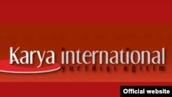 """Karya International"" bilim kompaniýasynyň websahypasyndan bir bölek."