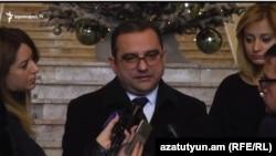 Заместитель министра экономического развития и инвестиций Тигран Хачатрян, Ереван, 21 декабря 2017 г.