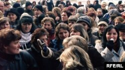 Građani Tuzle na jednom od mnogobrojnih protesta, ilustrativna fotografija