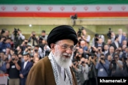 Iranian Supreme Leader Ali Khamenei casting his ballot during the last presidential election in May 2017.