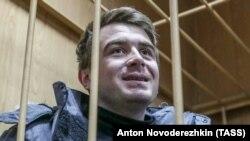 Командир українського бронекатера «Нікополь» Богдан Небилиця на суді в Москві